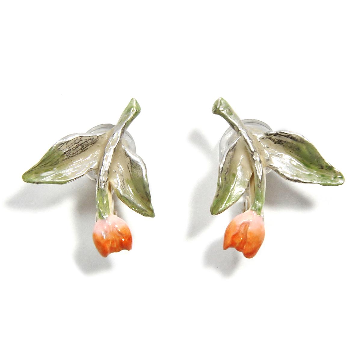 【スプリングセール】チューリップイヤリング(ピンク) / イヤリング