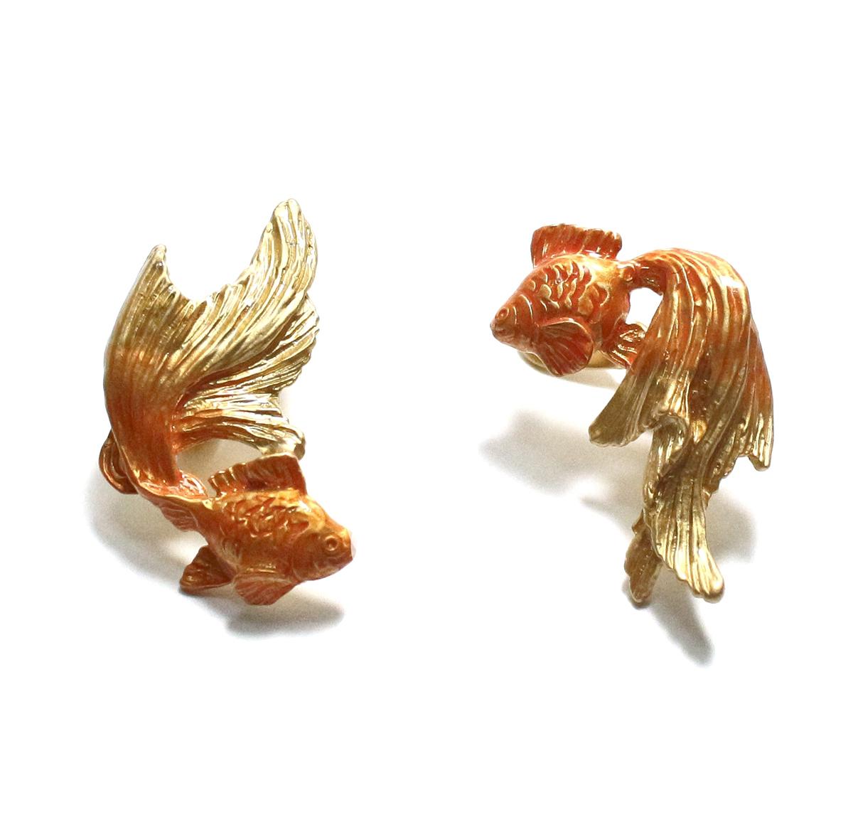 金魚イヤリングGD(ゴールドカラー) / イヤリング