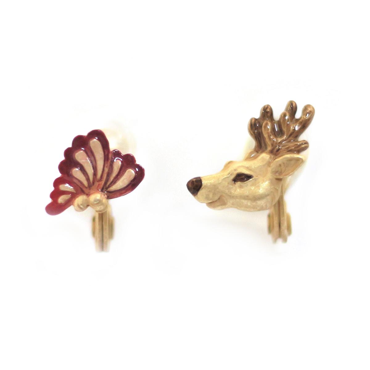 【スプリングセール】蝶鹿(ちょうか)イヤリング / イヤリング