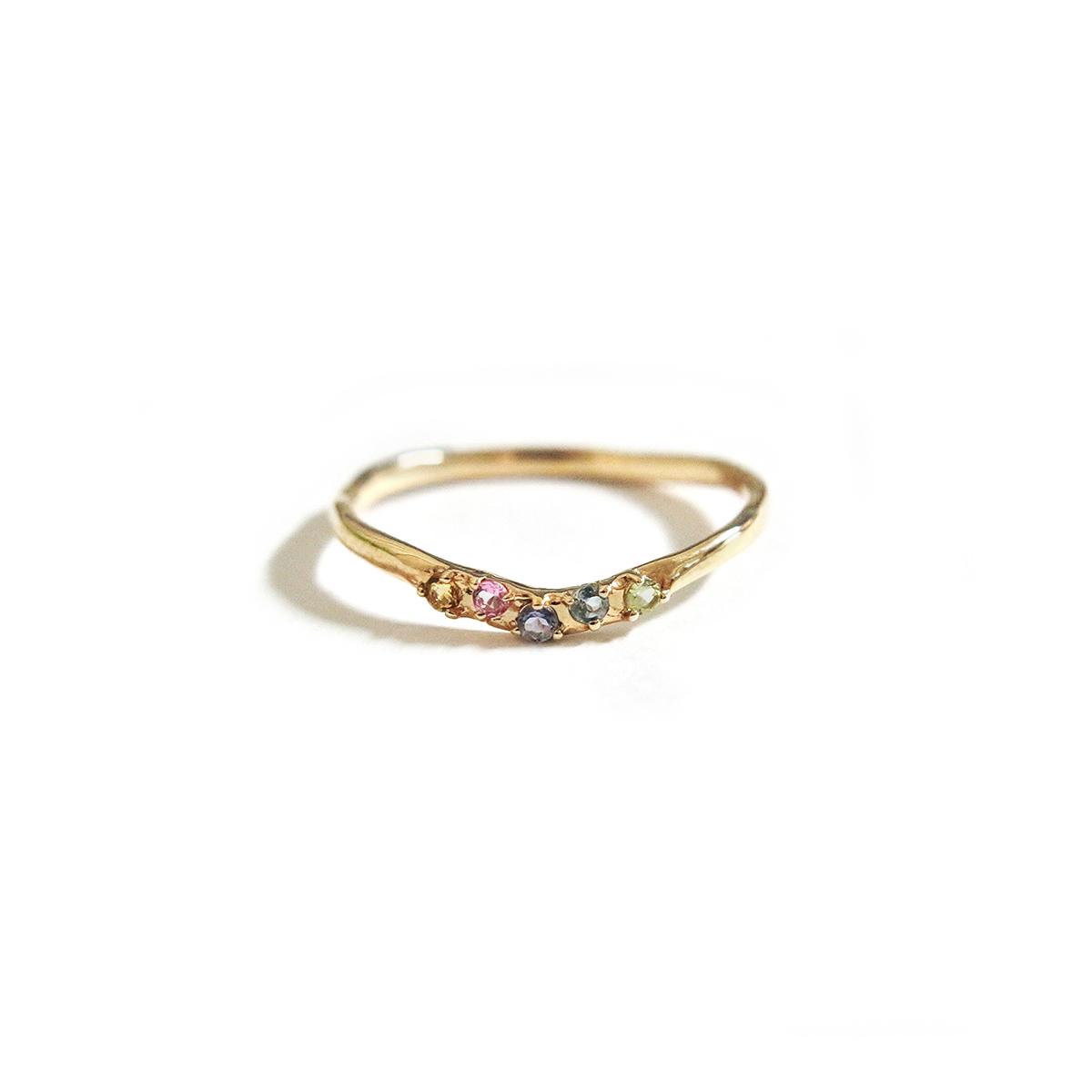 Multi Colored Ring / 【Cosmiki Konus】ジュエリーリング 専用ボックス付