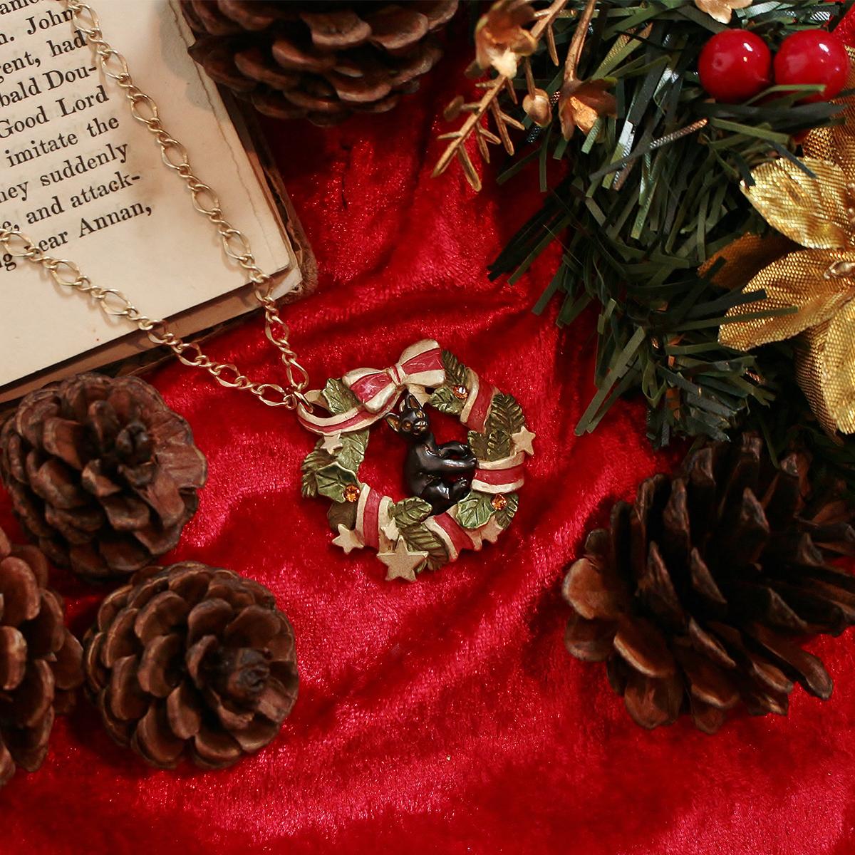 【1月誕生色モチーフ】<直営限定>ノエルミネット ネックレス<クリスマス限定>