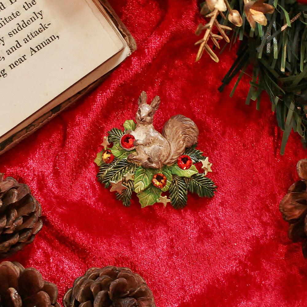 <直営限定>リスキャロル ブローチ<クリスマス限定>