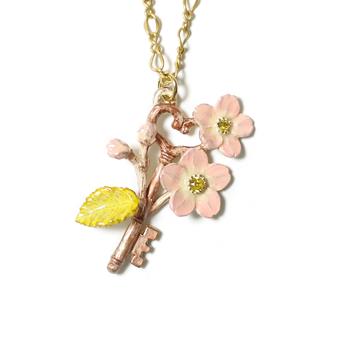 【7月誕生色モチーフ】春の鍵 / ネックレス