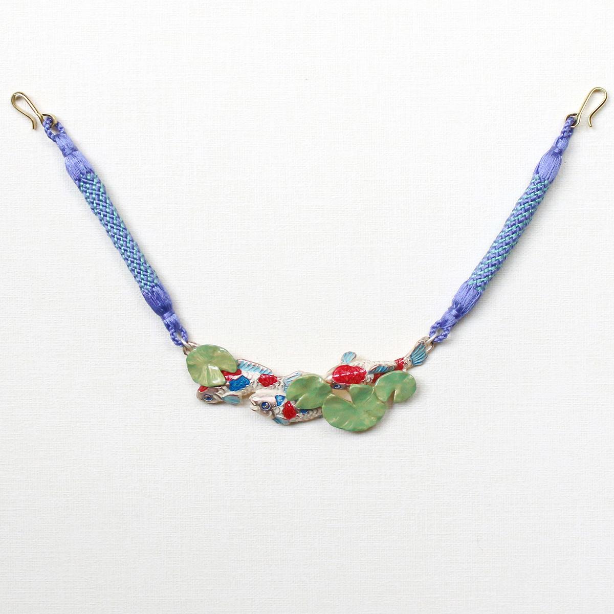 【8月誕生色モチーフ】印象派の池の羽織紐 / 羽織紐※専用豪華ボックス入り