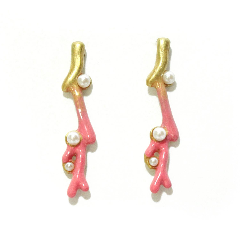 【7月誕生色モチーフ】サンゴの欠片(ピンク) / ピアス