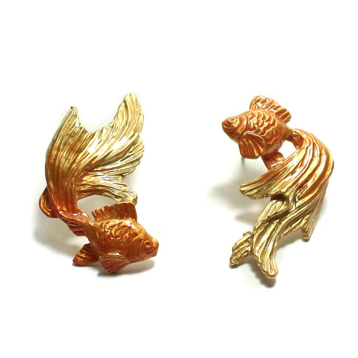 金魚ピアスGD(ゴールドカラー) / ピアス