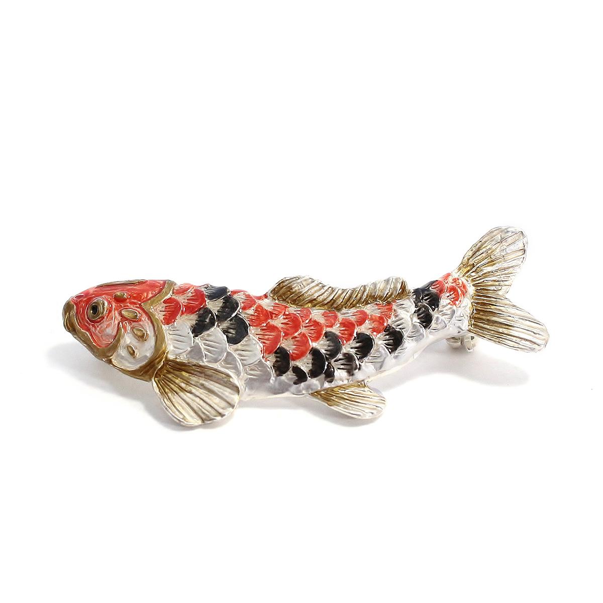 【10月誕生色モチーフ】鯉のぼりブローチ / ピンブローチ
