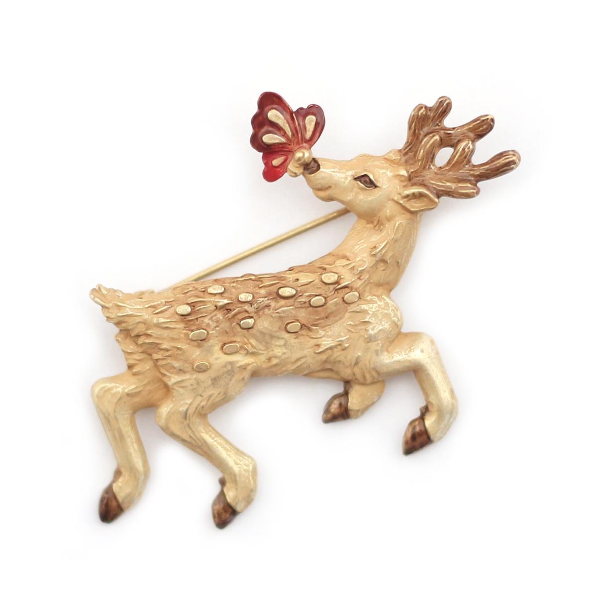 蝶鹿(ちょうか)ブローチ / ピンブローチ