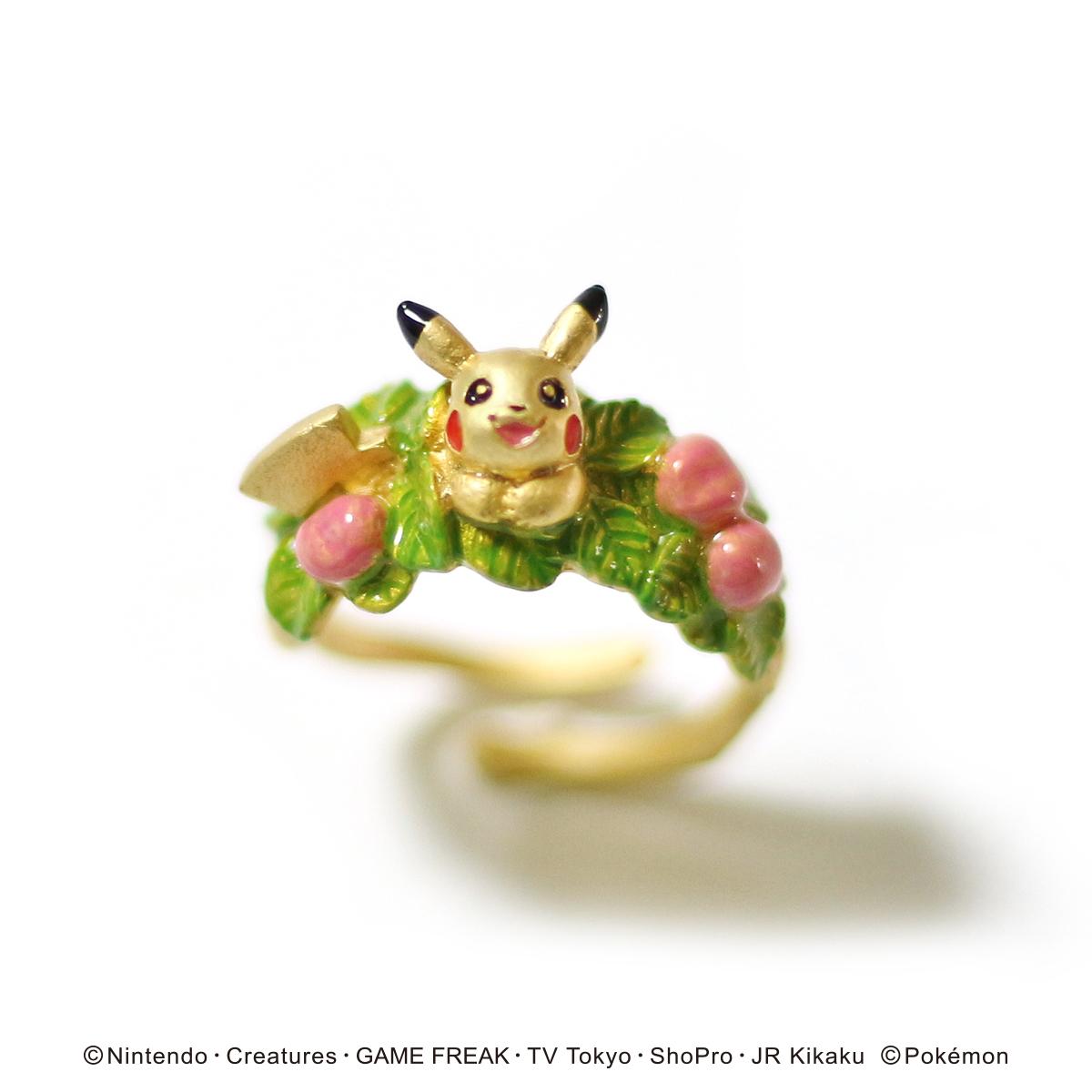【5月誕生色モチーフ】ピカチュウお花畑リング / リング【ポケモン第3弾】(フリーサイズ)