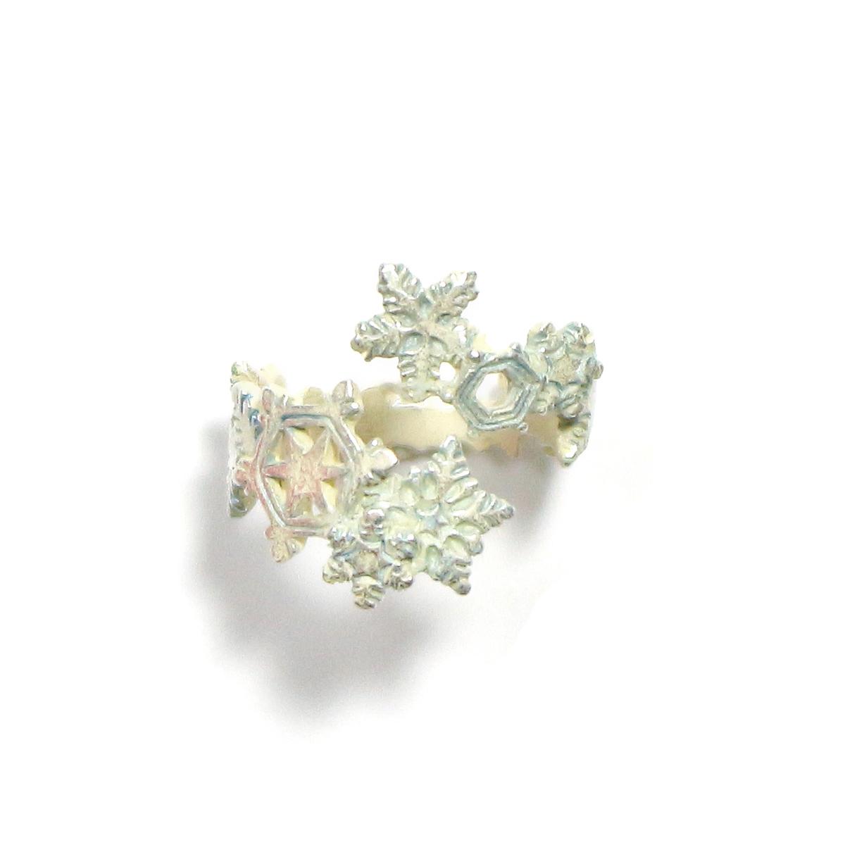 【9月誕生色モチーフ】ダイアモンドダストリング/ リング(フリーサイズ)