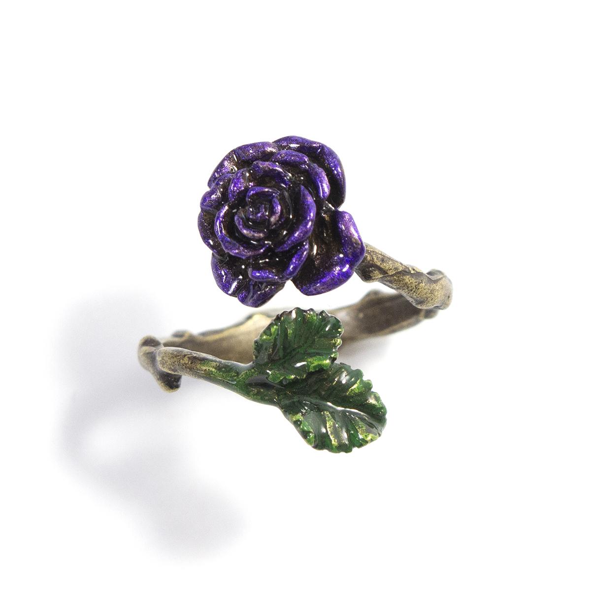 紫紺のバラリング / リング(フリーサイズ)