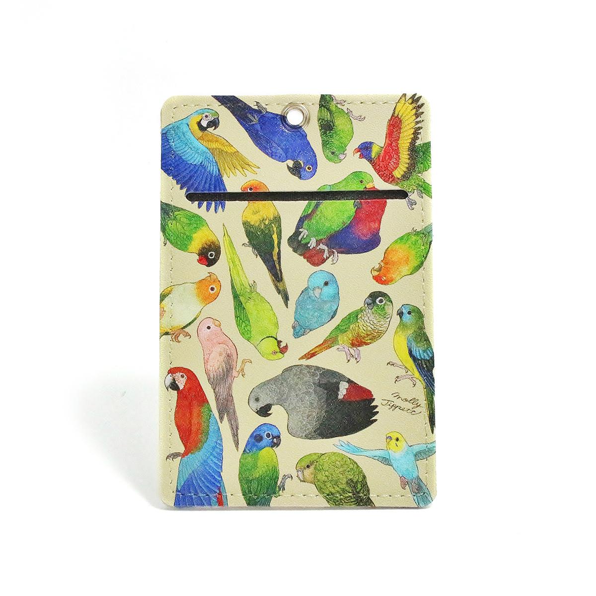 【直営店限定プレミアム】インコ科の鳥類パスケース