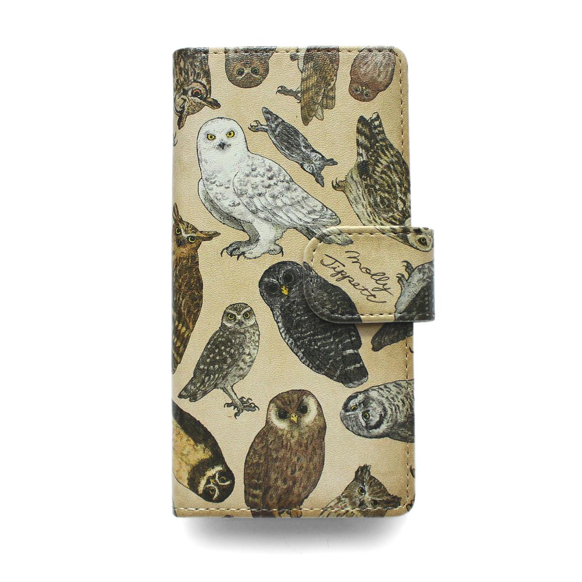 【セール】フクロウ目の鳥類/ スマートフォンケース(iPhone8/iPhone7/6s/6兼用)