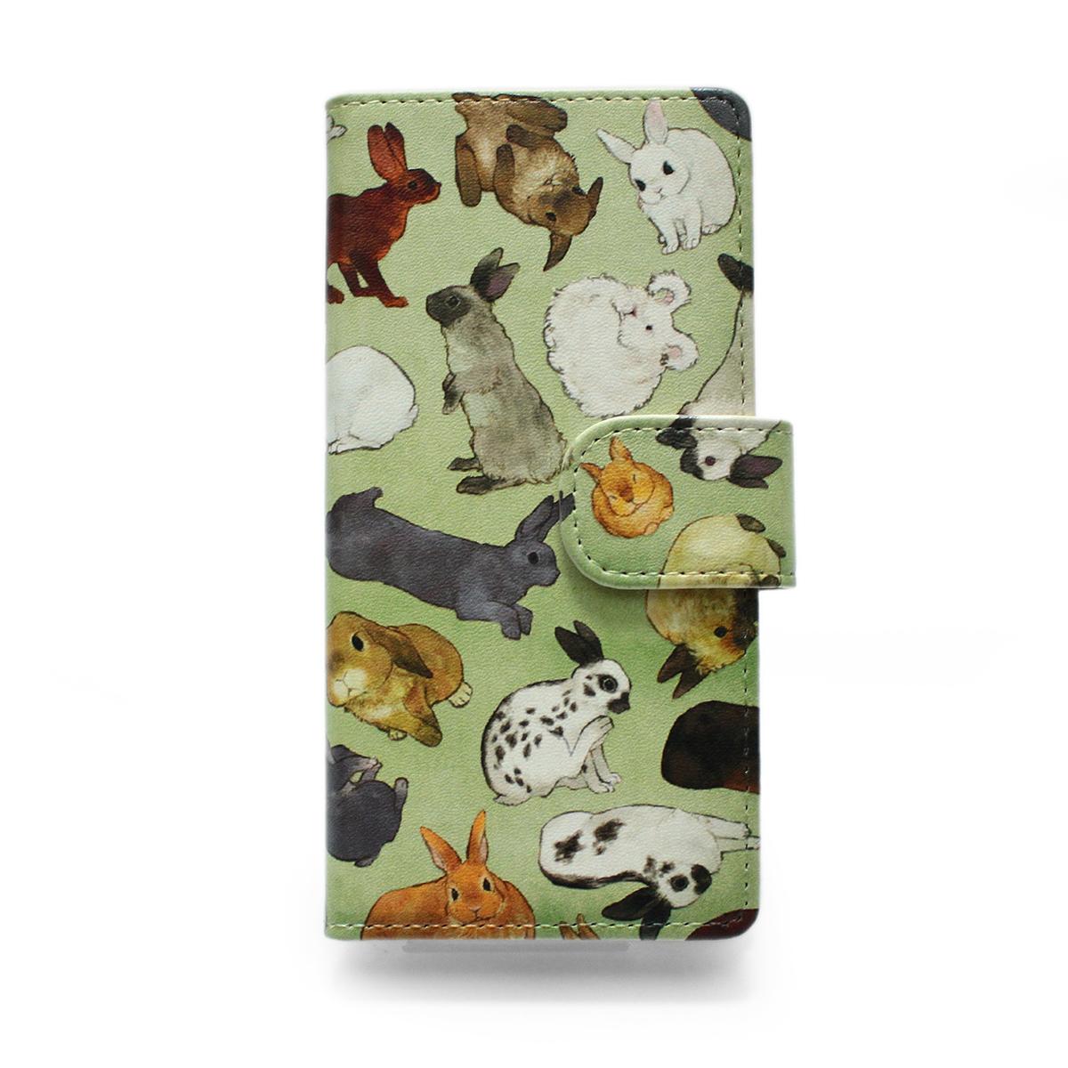 ウサギ図鑑/ スマートフォンケース (iPhone8/iPhone7/6s/6兼用)