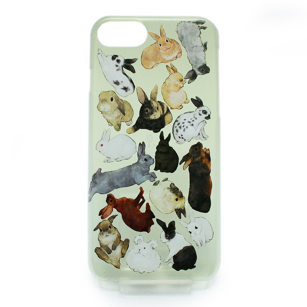 【セール】ウサギ図鑑(ハード)/ スマートフォンケース(iPhone6,iPhone7,iPhone8兼用)