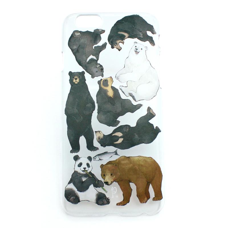 クマ図鑑(ハード)/ スマートフォンケース(iPhone6s専用)