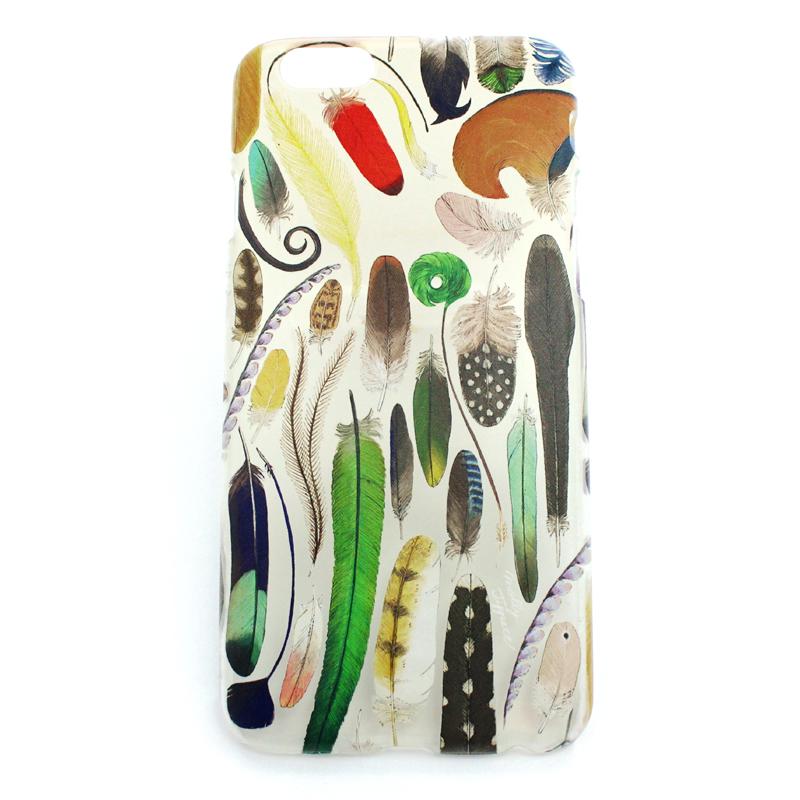 鳥類羽根標本(ハード)/ スマートフォンケース(iPhone8/iPhone7/6s/6兼用)