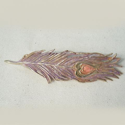 クジャクヘアピン(ゴールド) / バレッタ