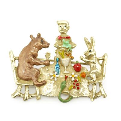 森の宴 / ピンブローチ