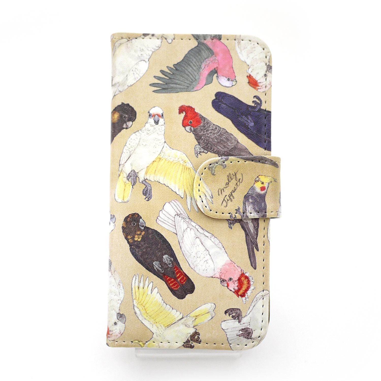 【セール】オウム科の鳥類/ スマートフォンケース(iPhone6・6sor5・5s専用)